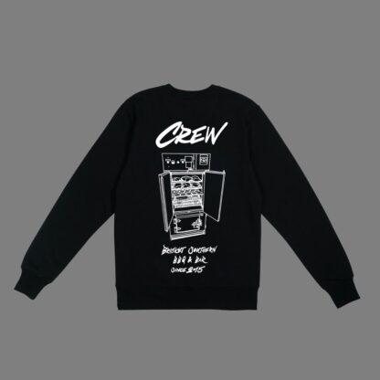 Brisket-Sweatshirt-Black Unisex-Back-Crew