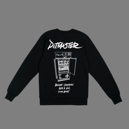 Brisket-Sweatshirt-Black Unisex-Back-Pitmaster